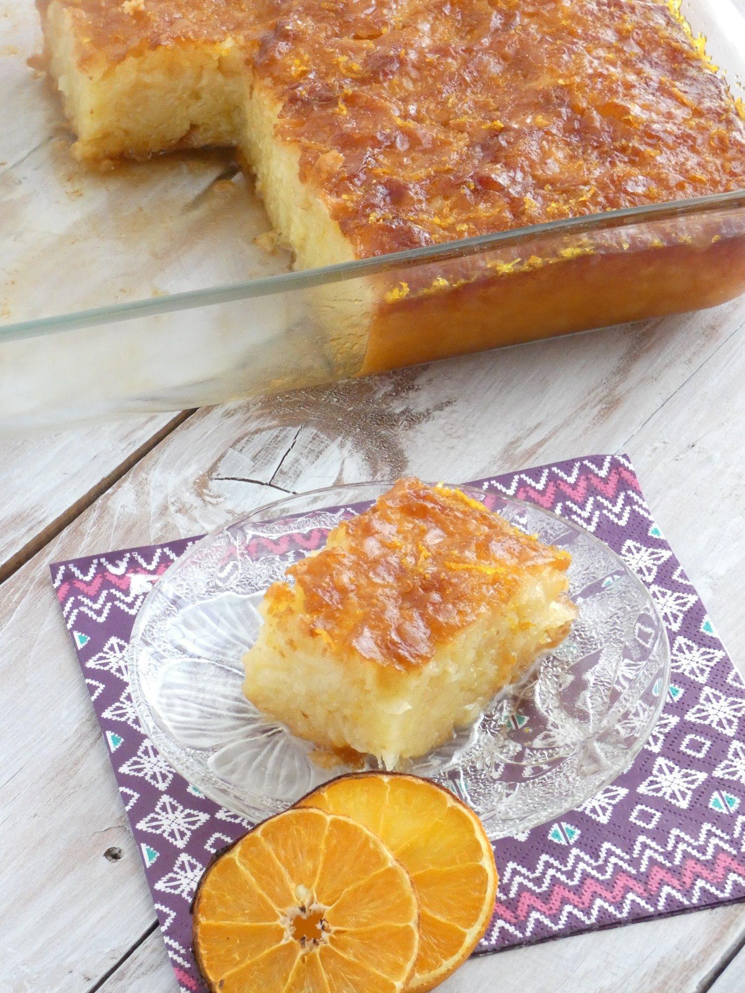 portokalopita-Greek orange cake with syrup