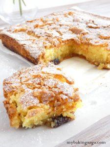 Almond cake with cherries my baking saga