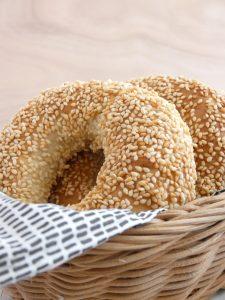 sesame bread rings mybakingsaga.com