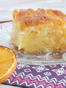 portokalopita-Greek orange cake with syrup