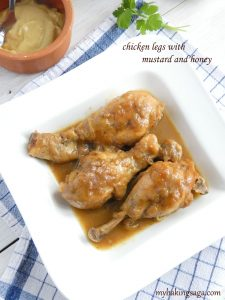 chicken legs with mustard and honey