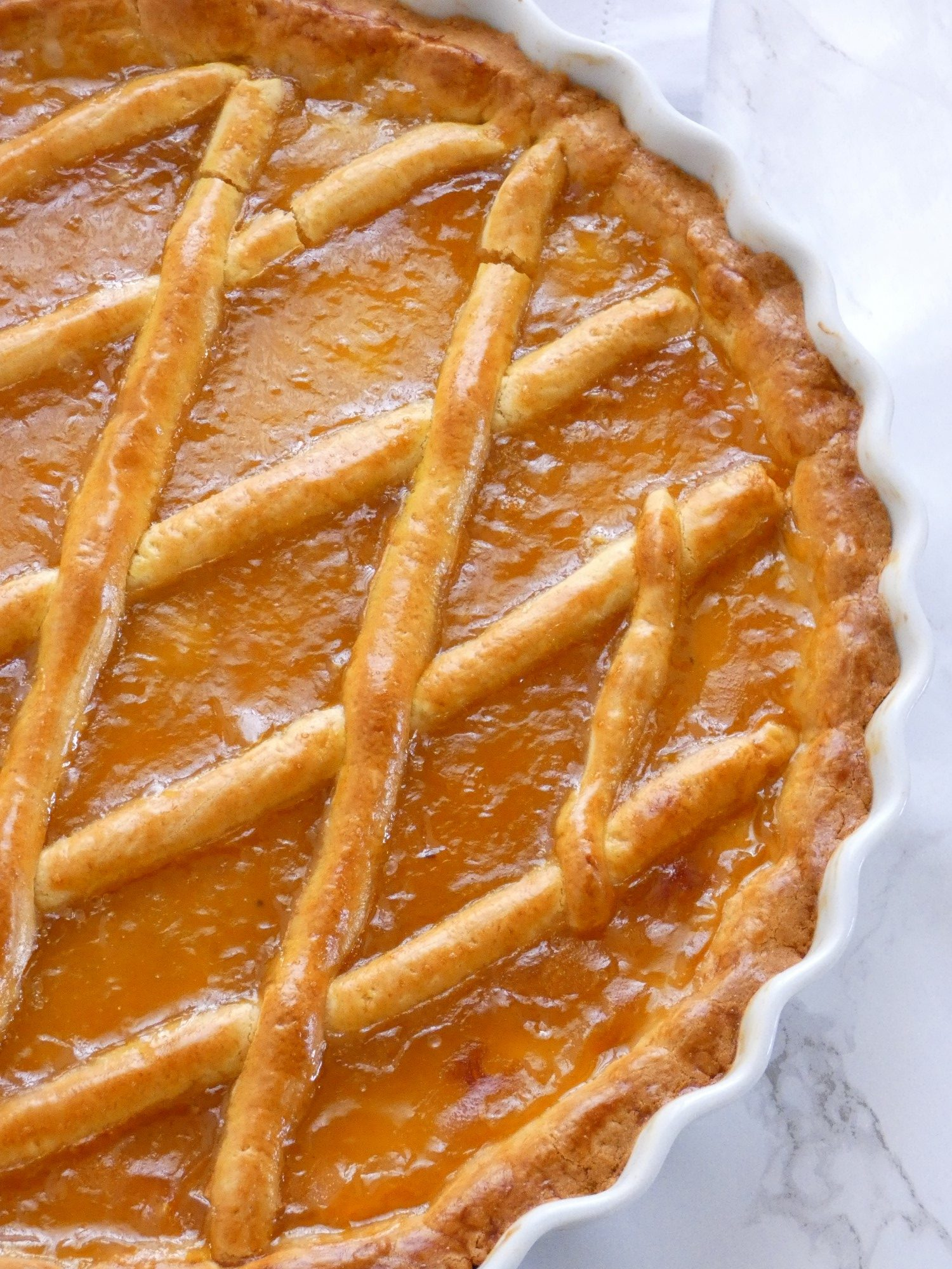 Apricot jam tart - Pasta flora