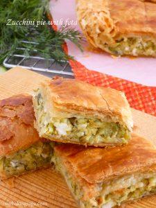 Zucchini pie with feta