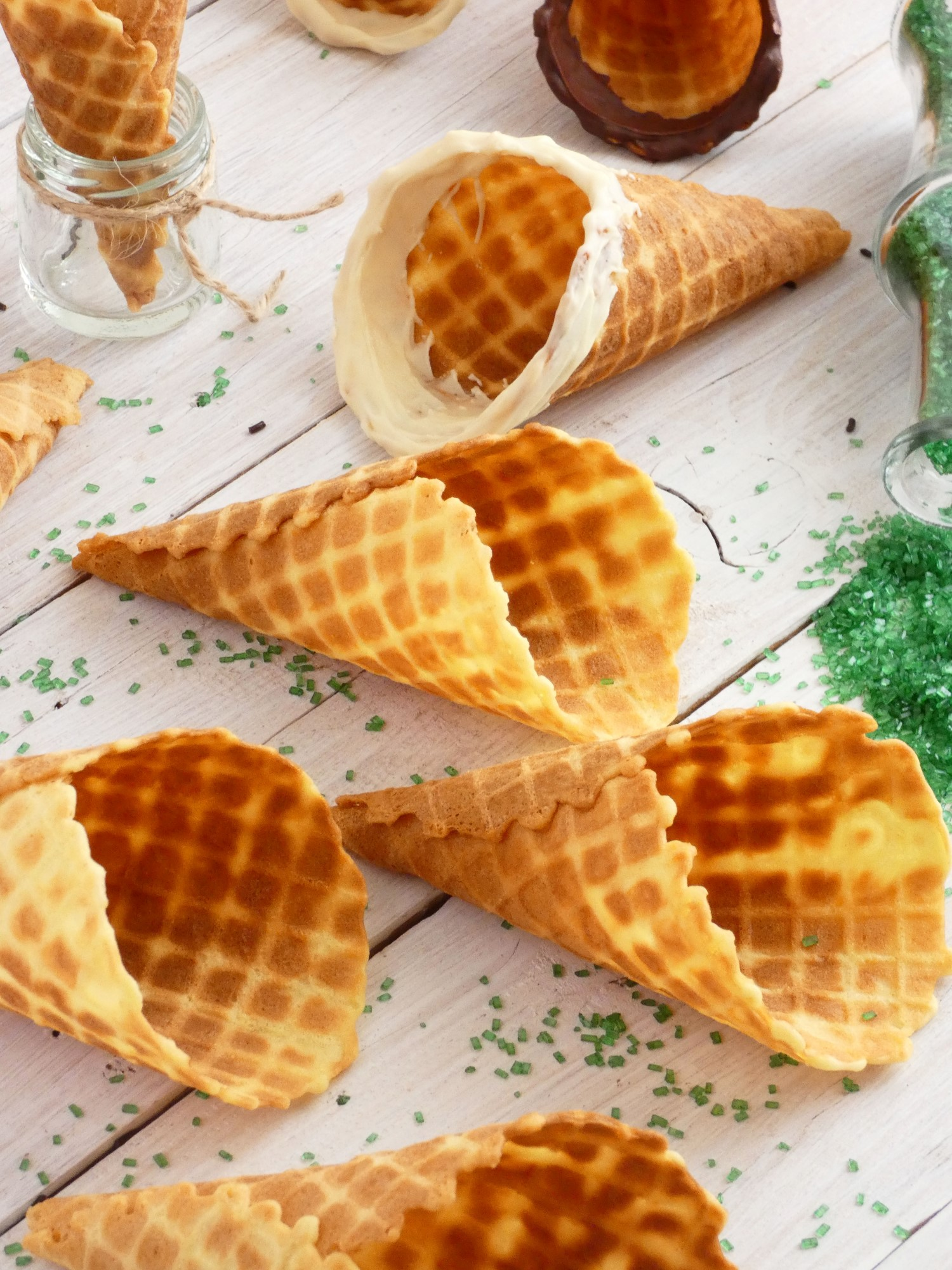 how to make ice cream waffle cones